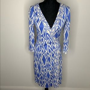 DVF Julian Silk Banded Wrap Dress